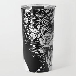 Papercut Portrait Travel Mug