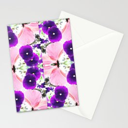 Pink Purple Petals Stationery Cards