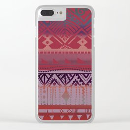 Tribal Autum Clear iPhone Case