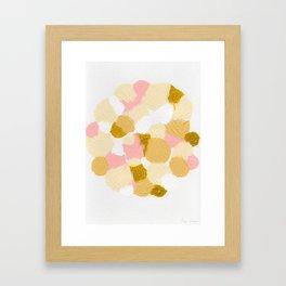 Gold pink Framed Art Print