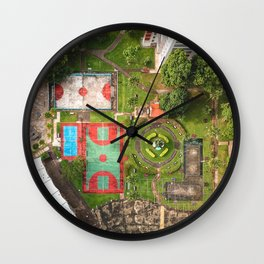 Singapore aerial drone Wall Clock