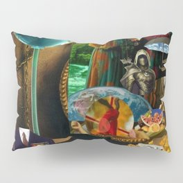 The Desert and the Smoky Town Pillow Sham