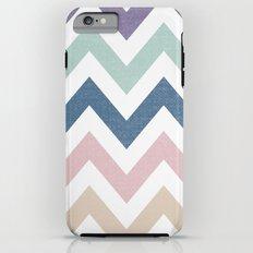MUTED CHEVRON {COOL TONES} iPhone 6 Plus Tough Case