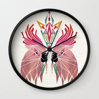 parrot Wall Clocks featuring parrot by Manoou