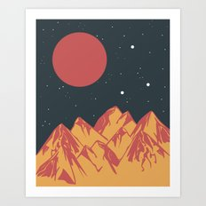 galactic mountains Art Print