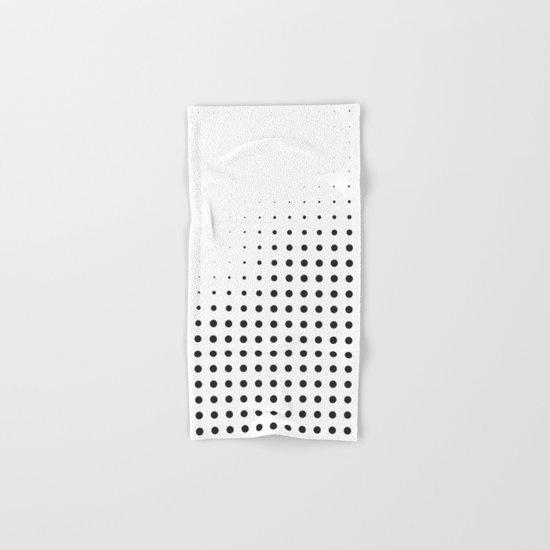 Black raster - Optical game12 Hand & Bath Towel
