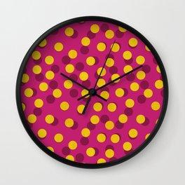 Gold Spotty Dots Wall Clock