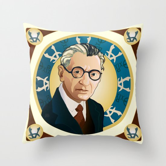 Kurt Gödel Throw Pillow