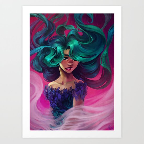 Underwater Motion Art Print