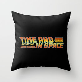 Back to the Doctor Throw Pillow