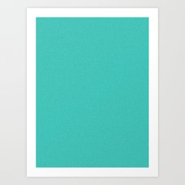 Turquoise Saturated Pixel Dust Art Print