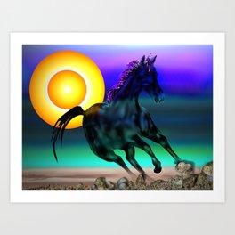 theodore's horse Art Print