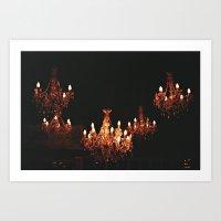 Beautiful chandelier Art Print