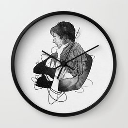 Surrounded with your deepness. Wall Clock