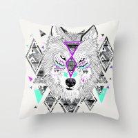 kris tate Throw Pillows featuring HONIAHAKA by Kyle Naylor and Kris Tate by Kyle Naylor