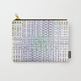 Grated Pattern Carry-All Pouch