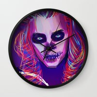 harry Wall Clocks featuring Harry by nasalouis