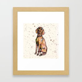 Hungarian Vizsla Dog Framed Art Print