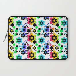 Rainbow Floral Abstract Flower Laptop Sleeve