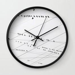 Electrifiying Flock Wall Clock
