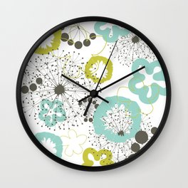 Flower a background Wall Clock