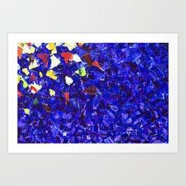 Picturesque dark blue Art Print