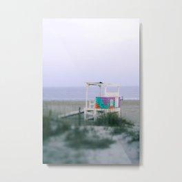 Colorful Lifeguard Stand Metal Print