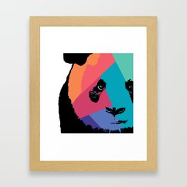 Panda in Colors  Framed Art Print