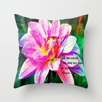 quotes Throw Pillows featuring Quotes-Rumi by haroulita