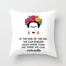 Frida's Strength Throw Pillow