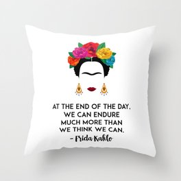 Frida's Strength Throw Pillow