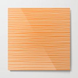 Sherbet Pinstripes Metal Print