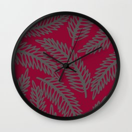 Redwood Leaf  Wall Clock