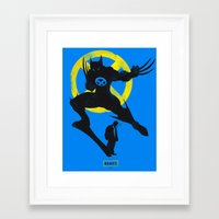xmen Framed Art Prints featuring Xmen - Logan Alter Ego  by Bklounge