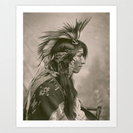 Portrait of Cree Indian by George E. Fleming, 1903 Art Print