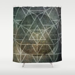 Tetrahedron Ignis Shower Curtain