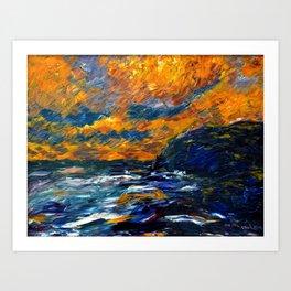1910 Classical Masterpiece 'The Sea' Herbstmeer by Emil Nolde Art Print
