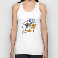 donald duck Tank Tops featuring Funny Angry Donald Duck by Yuliya L