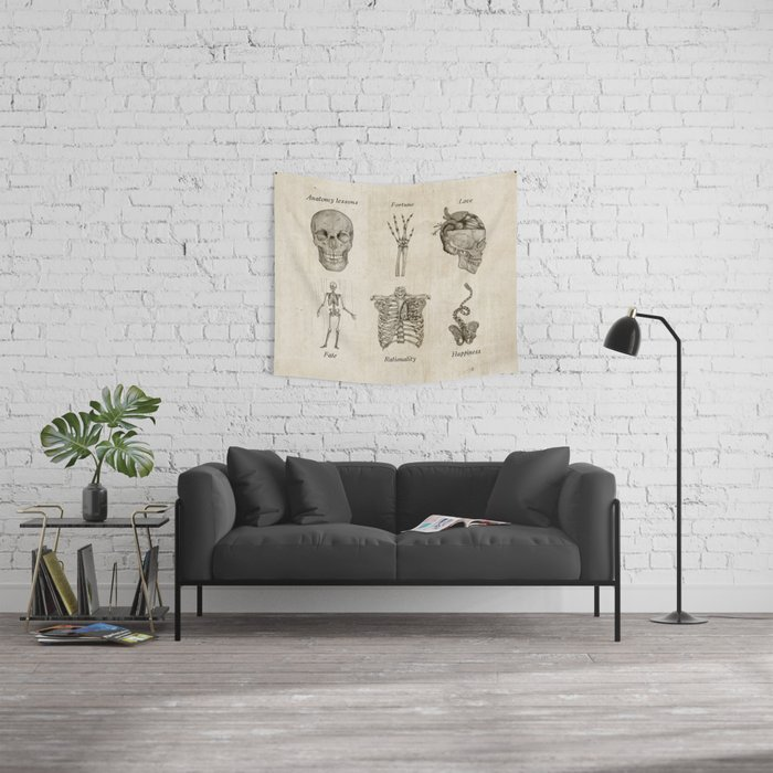 Anatomy lessons Wall Tapestry