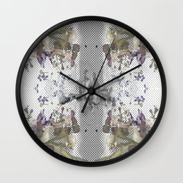 Halftone X-ray Floral Wall Clock