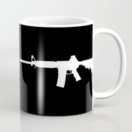 AR-15 (on black) Coffee Mug