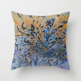 Psychedelic Sun Set. Throw Pillow