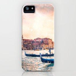 Venice Gondolas, Italy iPhone Case