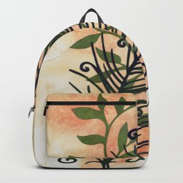 Watercolor Feather And Flora Backpack