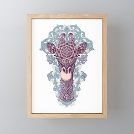 Giraffe (Color Version) Framed Mini Art Print