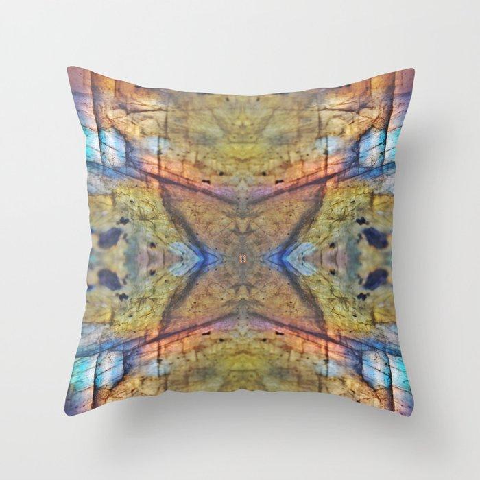 Labradorite Macro Throw Pillow