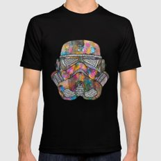 Stormtrooper Galaxy Mens Fitted Tee LARGE Black