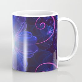 Beautiful Ultra Violet Fractal Nightshade Flower Coffee Mug