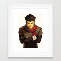 returns Framed Art Prints featuring Mako Returns by Caleb Thomas