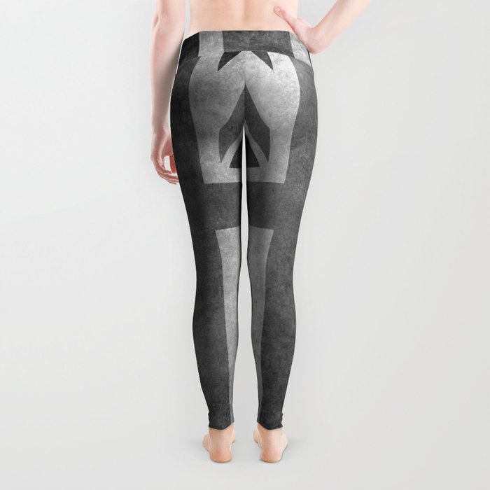 Union Jack Vintage 3:5 Version in grayscale Leggings